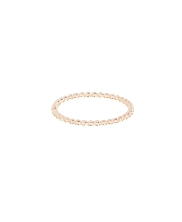 Classic 1mm Beaded Gold Ring