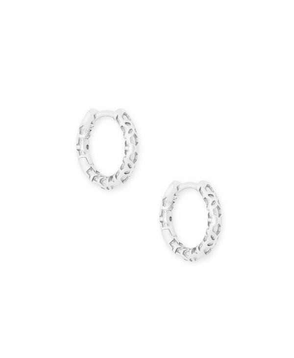 Maggie Huggie Earrings in Filigree
