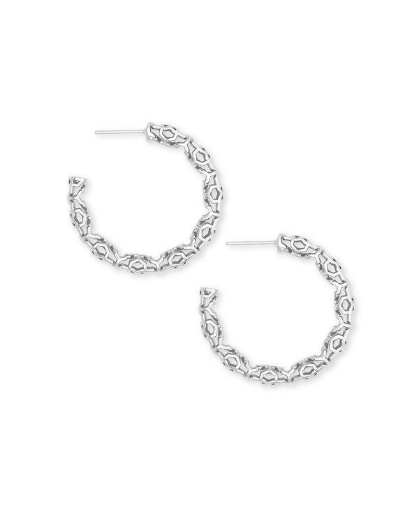 Maggie Small Hoop Earrings in Filigree
