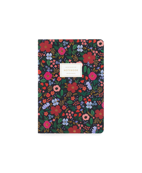 Stitched Notebook Set in Wild Rose