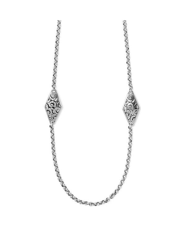 Deco Diamond Link Long Necklace