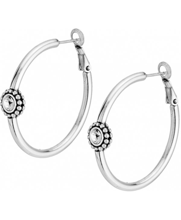 Twinkle Medium Hoop Post Earrings