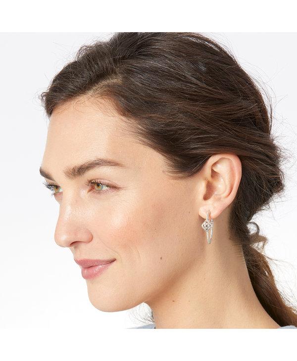 Interlok Knot Rope Hoop Earrings