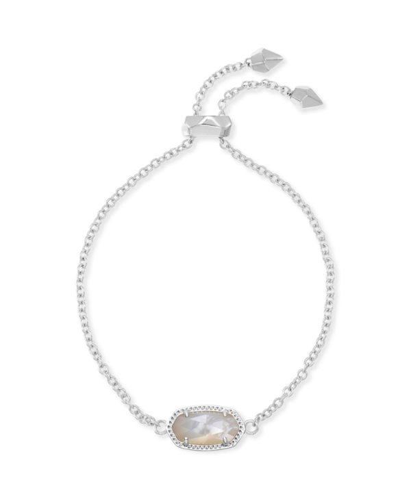 Elaina Adjustable Chain Bracelet in Ivory Mother-of-Pearl