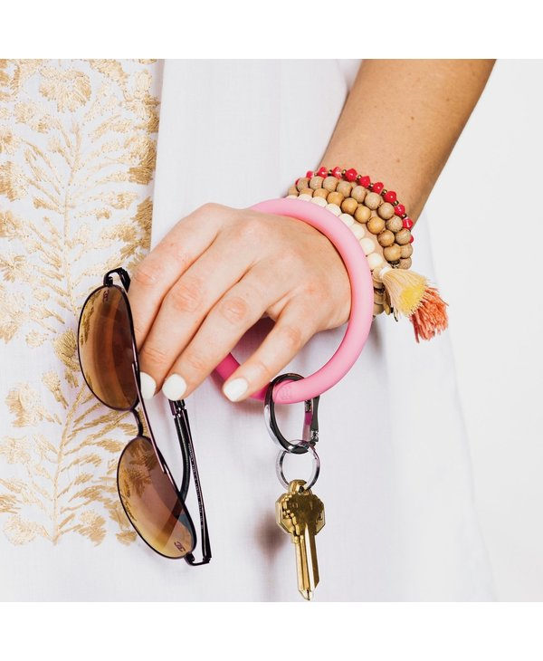 Silicone Big O Key Ring in Cotton Candy
