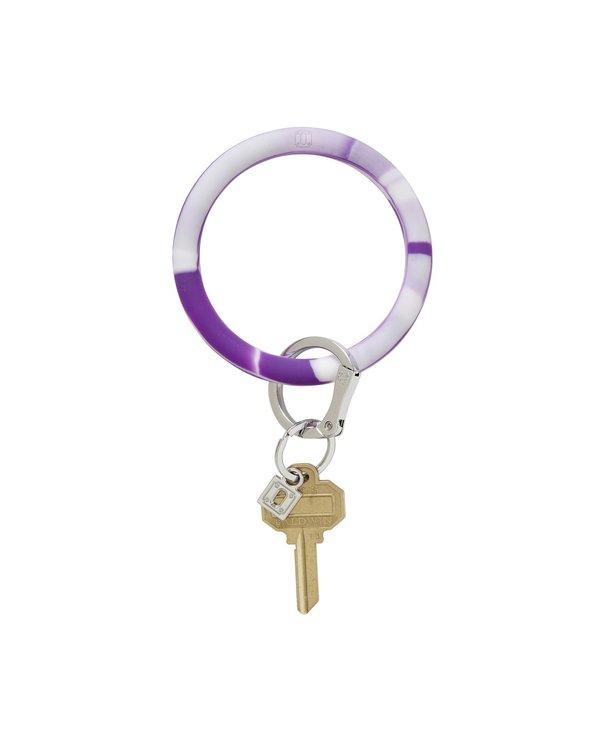 Silicone Big O Key Ring in Deep Purple Marble