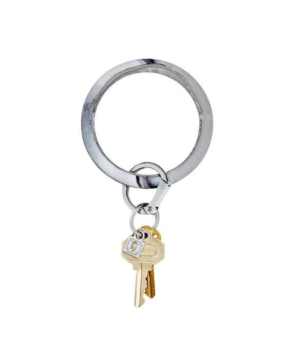 Silicone Big O Key Ring in Tuxedo Marble