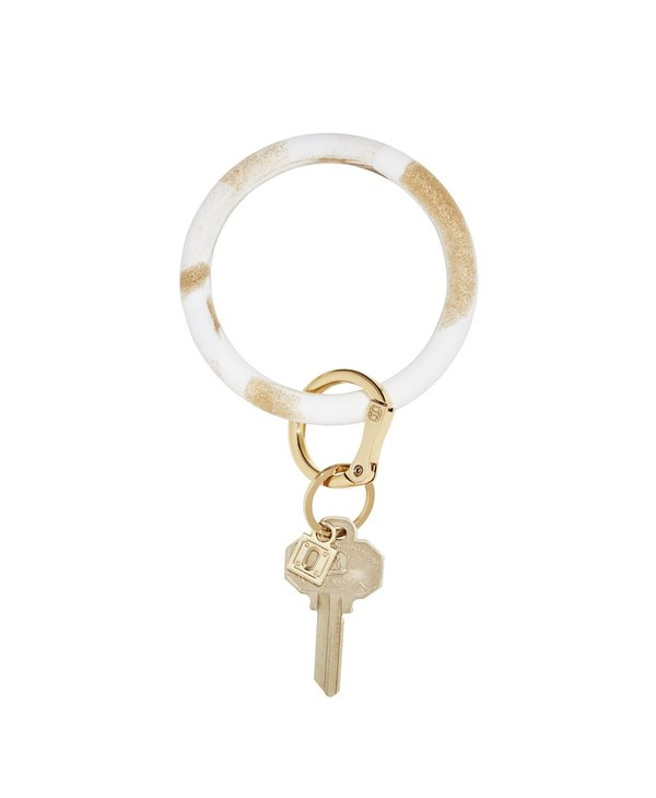 Silicone Big O Key Ring in Gold Rush Marble