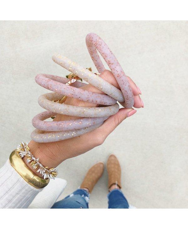 Silicone Big O Key Ring in Gold Confetti