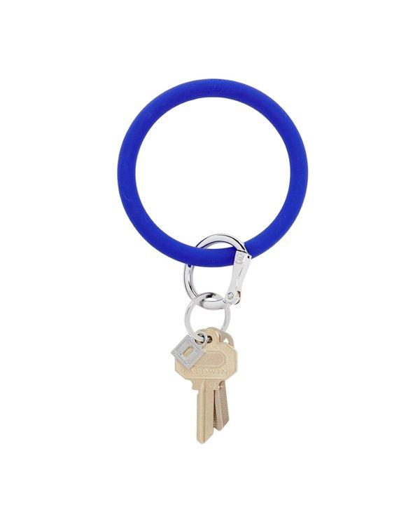 Silicone Big O Key Ring in Blue Me Away