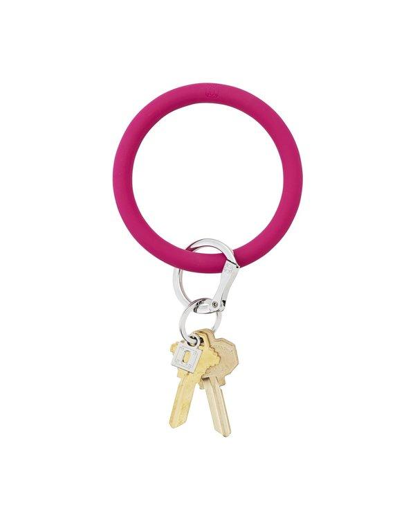 Silicone Big O Key Ring in I Scream Pink