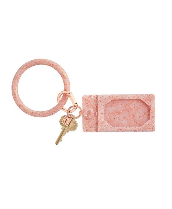 Silicone ID Case in Rose Gold Confetti