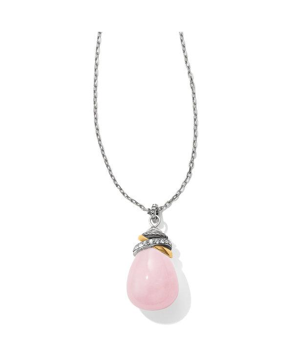 Neptune's Rings Rose Quartz Necklace
