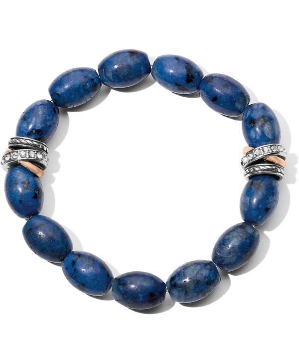 Neptune's Rings Kiwi Lapis Stretch Bracelet