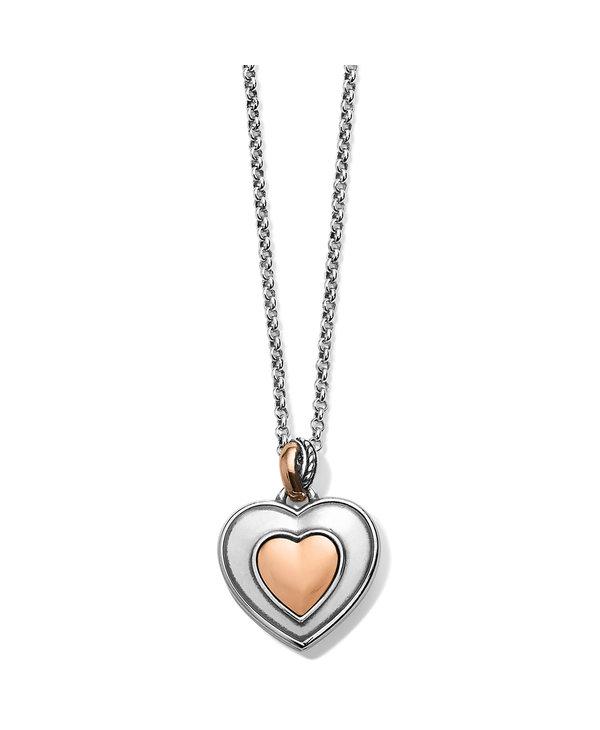 Neptune's Rings Opal Heart Reversible Necklace