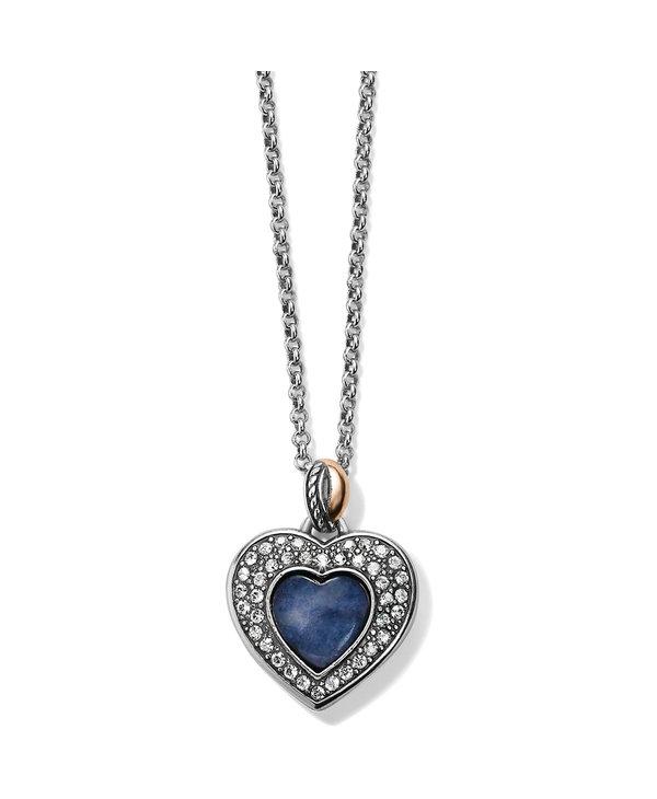 Neptune's Rings Blue Quartz Heart Reversible Necklace