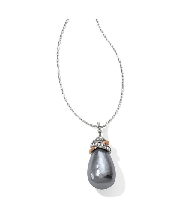Neptune's Rings Gray Pearl Necklace