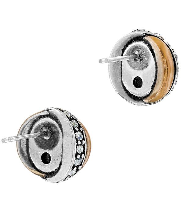 Neptune's Rings Pearl Button Earrings