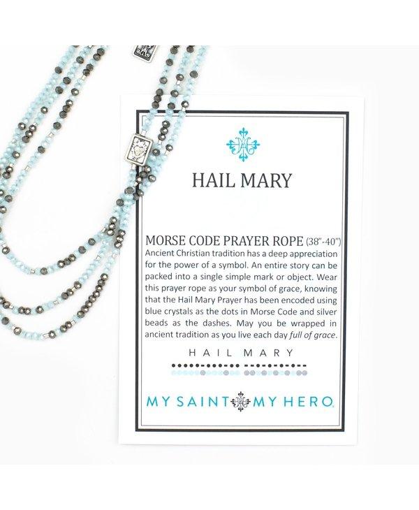 Hail Mary Morse Code Prayer Rope