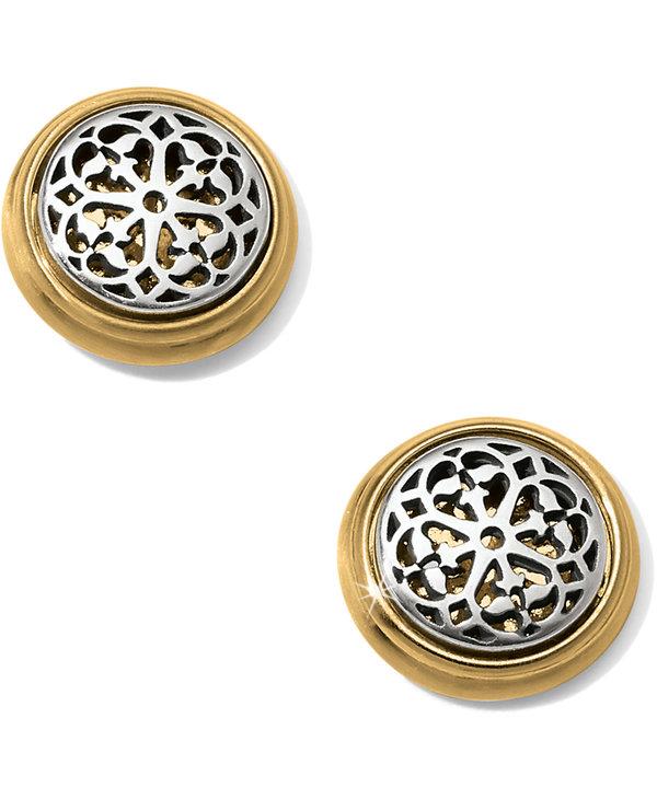 Ferrara Two Tone Post Earrings