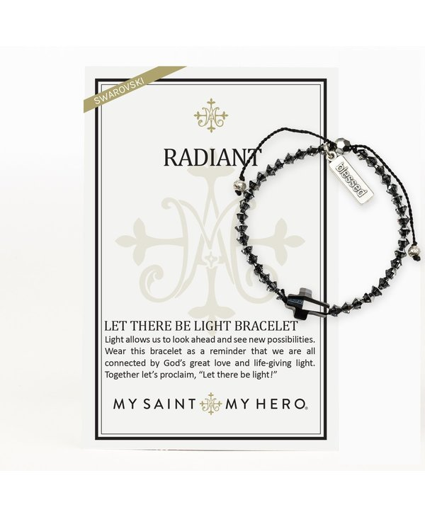 Radiant Let There Be Light Bracelet in Silver Night