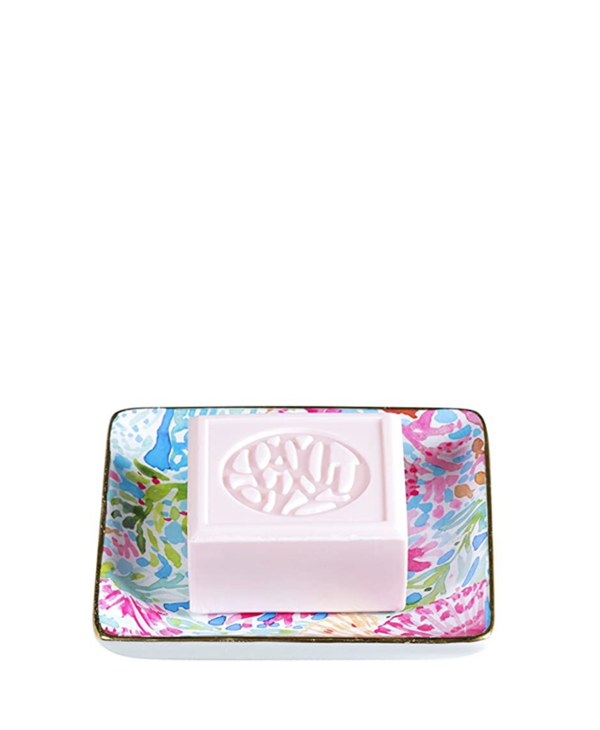 Soap & Tray Set in Coral Cay