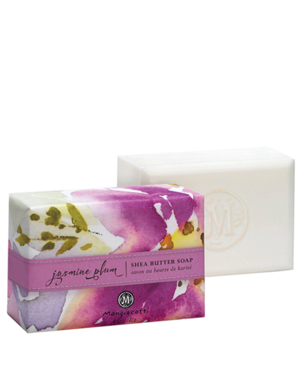 Shea Butter Bar Soap in Jasmine Plum