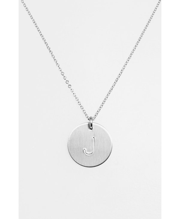 Initial J Coin Necklace