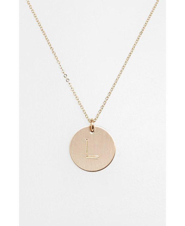 Initial L Coin Necklace