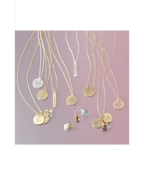 Initial R Coin Necklace