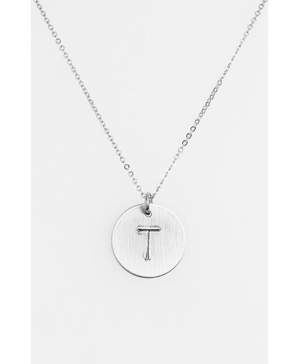 Initial T Coin Necklace