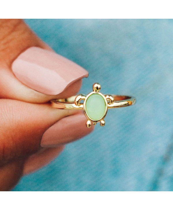 Sea Turtle Ring in Gold