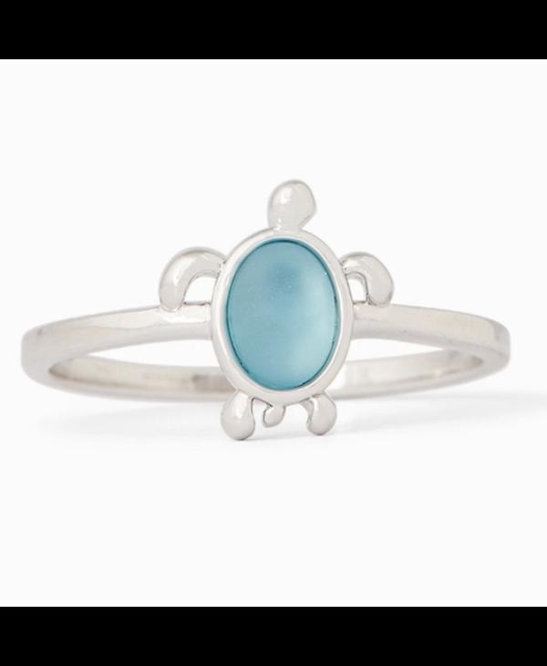 Sea Turtle Ring in Silver
