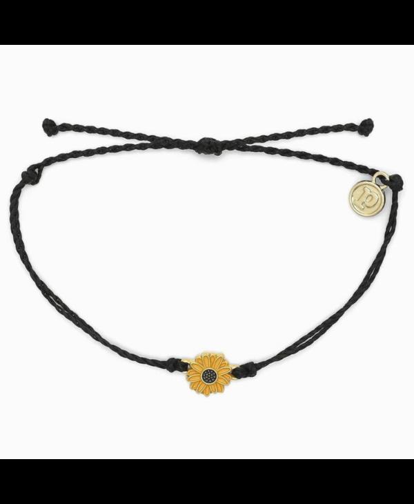 Sunflower Charm Bracelet in Gold
