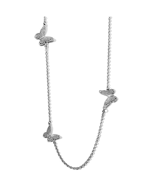 Solstice Bloom Butterfly Long Necklace
