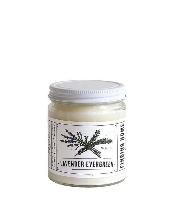 Lavender Evergreen Medium Jar Candle