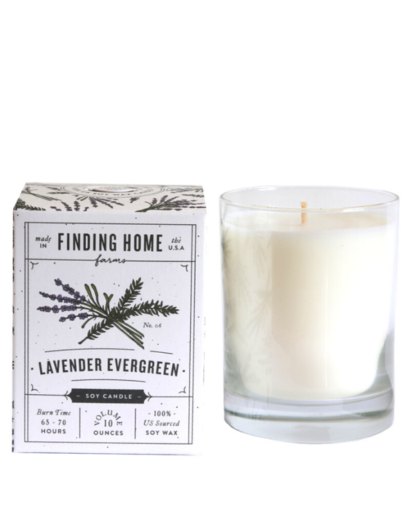 Lavender Evergreen Boxed Candle