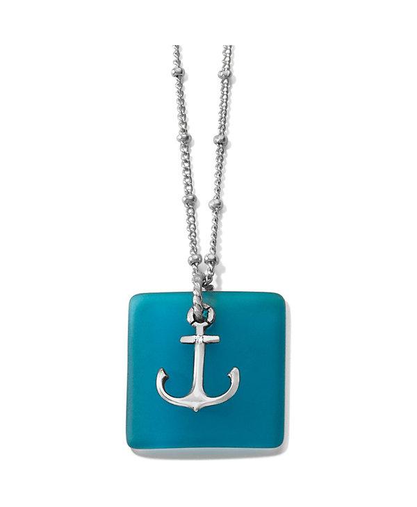 Sea Shore Anchor Glass Necklace