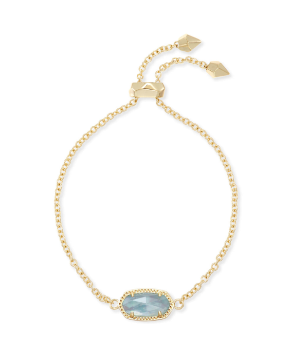 Elaina Adjustable Chain Bracelet in Light Blue Illusion