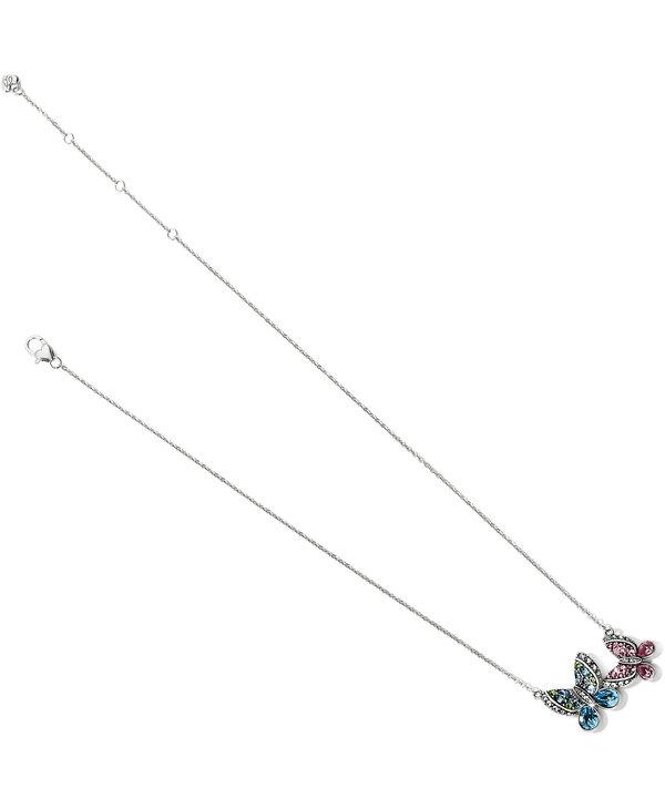 Trust Your Journey Love Butterflies Reversible Necklace