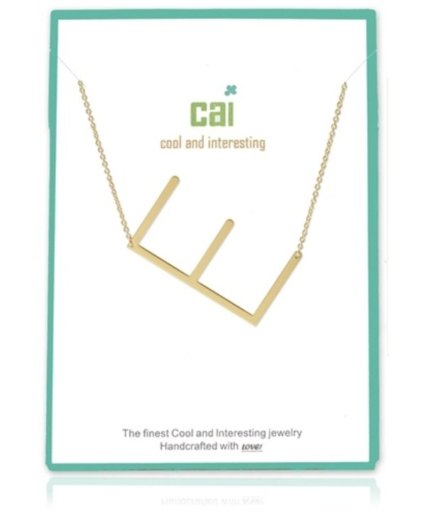 Medium Initial E Necklace