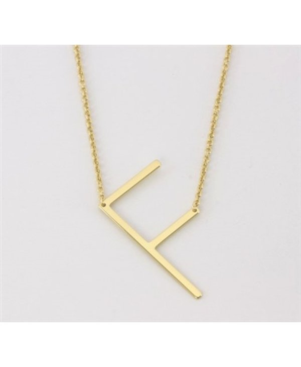 Medium Initial F Necklace