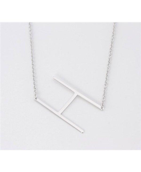 Medium Initial H Necklace