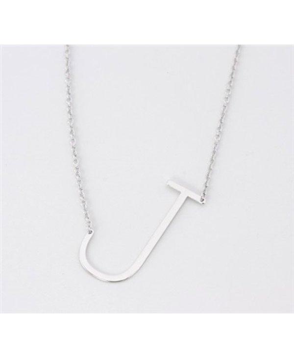 Medium Initial J Necklace