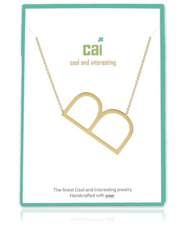Medium Initial B Necklace
