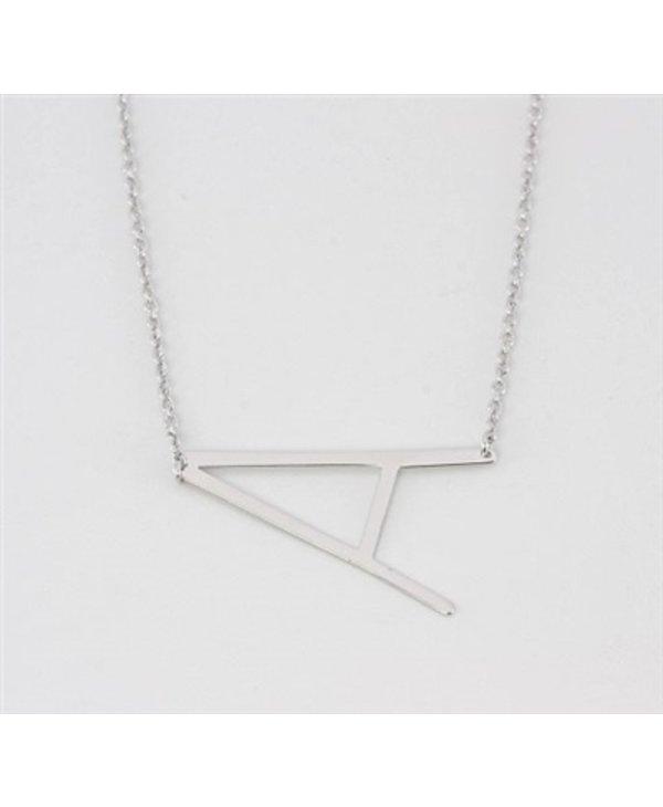 Medium Initial A Necklace