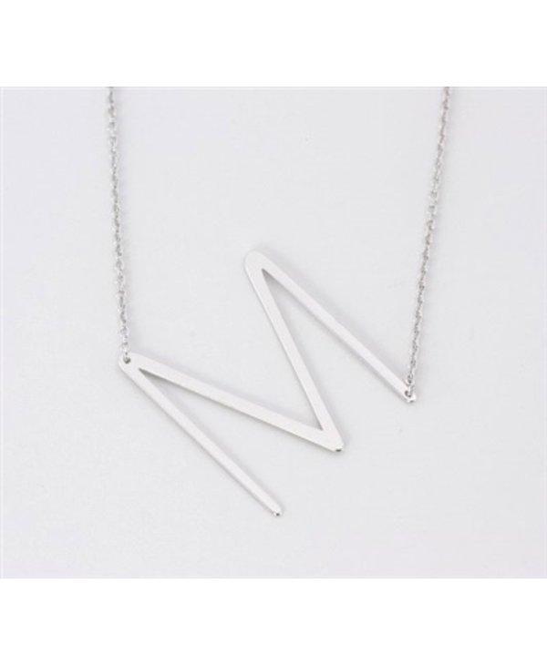 Medium Initial M Necklace