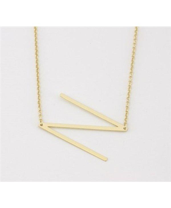 Medium Initial N Necklace