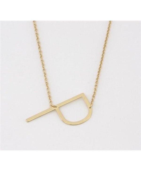 Medium Initial P Necklace