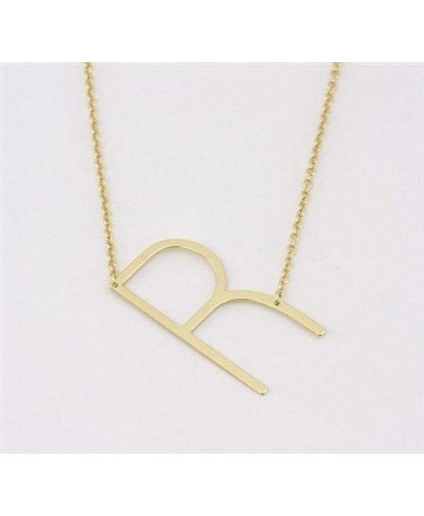 Medium Initial R Necklace